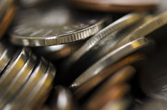 Pièces de monnaie roumaines Images stock