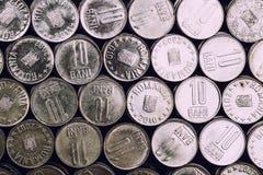 Pièces de monnaie roumaines Image libre de droits