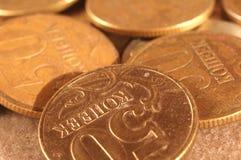 Pièces de monnaie russes Images libres de droits