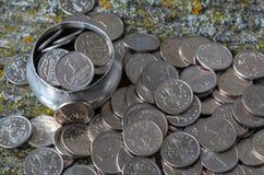 Pièces de monnaie russes photographie stock libre de droits