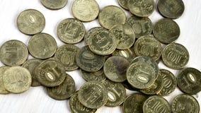 Pièces de monnaie russes Photo libre de droits