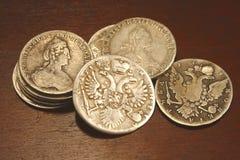 Pièces de monnaie russes antiques Image libre de droits