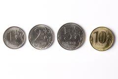 Pièces de monnaie russes - rouble Photos stock