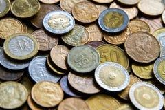 Pièces de monnaie sud-américaines Photos libres de droits