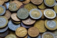 Pièces de monnaie sud-américaines Images libres de droits
