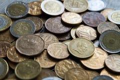 Pièces de monnaie sud-américaines Images stock