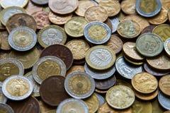 Pièces de monnaie sud-américaines Photographie stock