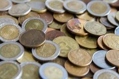 Pièces de monnaie sud-américaines Photos stock