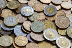 Pièces de monnaie sud-américaines Photo stock