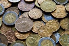 Pièces de monnaie sud-américaines Photo libre de droits