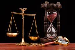 Argent et justice Photographie stock libre de droits