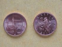 10 pièces de monnaie tchèques de couronne, République Tchèque Photographie stock libre de droits