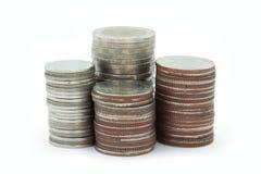 Pièces de monnaie thaïes Images stock
