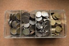 Pièces de monnaie thaïes Photos stock