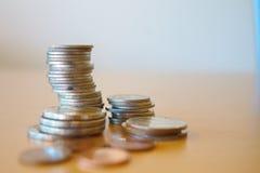 Pièces de monnaie thaïes Photo stock