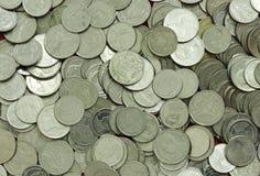 Pièces de monnaie thaïes de baht Invente la Thaïlande Photos libres de droits