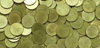 Pièces de monnaie thaïes de baht Invente la Thaïlande Images libres de droits