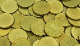 Pièces de monnaie thaïes de baht Invente la Thaïlande Photographie stock libre de droits