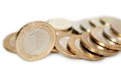 Pièces de monnaie turques de Lire Photo libre de droits