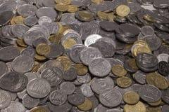Pièces de monnaie ukrainiennes photo stock