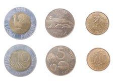 Pièces de monnaie vers la Finlande image stock