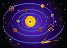 Pièces de montre sous forme de galaxies illustration de vecteur