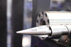 Pièces de presse à vis pour la machine en plastique d'injection photo libre de droits