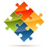 pièces de puzzle de travail d'équipe illustration de vecteur