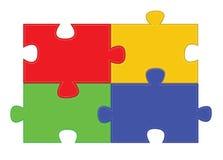 Pièces de puzzle denteux Images libres de droits