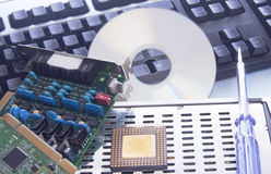 Pièces de rechange d'ordinateur Images libres de droits