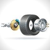 Pièces de roue Images stock