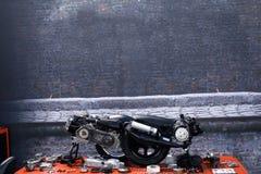 Pièces de scooter Photographie stock