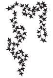 Pièces de silhouette de lierre image libre de droits