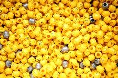 Pièces de tête de minifigure de LEGO Photos stock