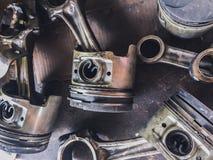 Pièces de véhicule de voiture de pistons photographie stock libre de droits