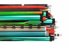 Pièces de vieilles imprimantes à laser et de copieurs Tambours photosensibles, r photographie stock libre de droits