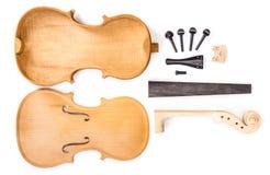 Pièces de violon photographie stock libre de droits