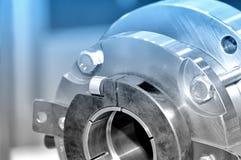 Pièces en acier pour l'outillage industriel Tonalité bleue Image libre de droits