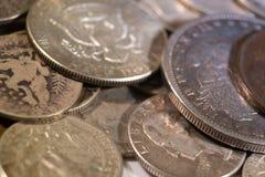 Pièces en argent Photo stock