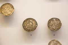 Pièces en argent au Musée National géorgien - Tbilisi Images stock