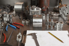 Pièces en métal photographie stock