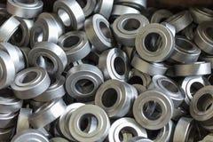 Pièces en métal, acier Rouleaux en acier, rouleaux Image libre de droits