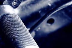 Pièces en métal de dispositif mécanique photo stock