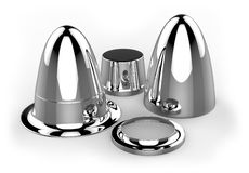 Pièces en métal de Hydroformed illustration stock