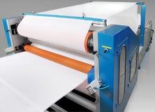 Pièces et détails d'une machine d'impression. Images stock