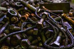 Pièces et rouille en métal image stock