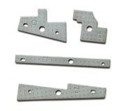Pièces géométriques de dispositif en métal Photographie stock libre de droits