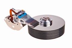 Pièces internes d'unité de disque dur. Image stock