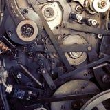 Pièces mécaniques du moteur de machine photo stock