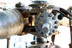 Pièces mécaniques du vieux moteur Photographie stock